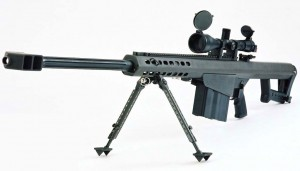 Rumored to be able to hit a target a mile away, the Barrett .50 Caliber is the daddy of all rifles.