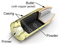 Diagram of a Bullet Cartridge